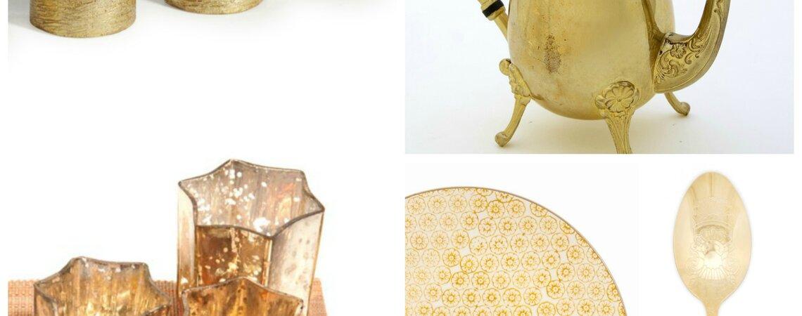 hochzeitsbrunch goldene accessoires f r ihren. Black Bedroom Furniture Sets. Home Design Ideas