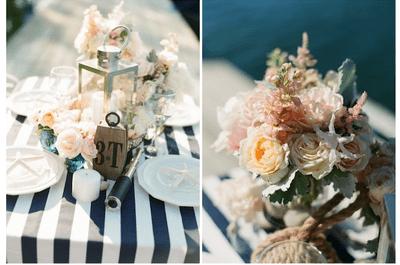 Tendência de Verão: Um casamento com uma decoração às riscas