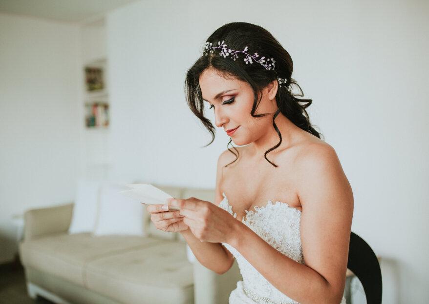 ¿Cómo elegir el tocado de novia en cinco pasos?