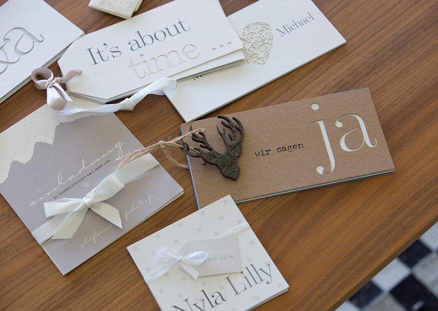 Hochzeitspapeterie von tellme - Echte Unikate für Ihren Hochzeitstag