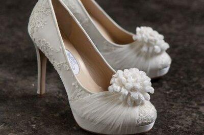 Tendencias en zapatos para novia 2014: tonos tierra y metálicos