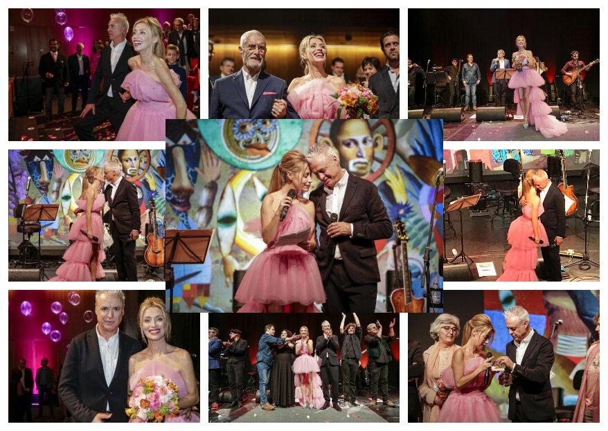 Após 14 anos juntos, João Gil e Ana Mesquita casaram... em palco!