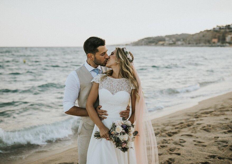 Tânia & David: incrível casamento internacional nas praias de Barcelona