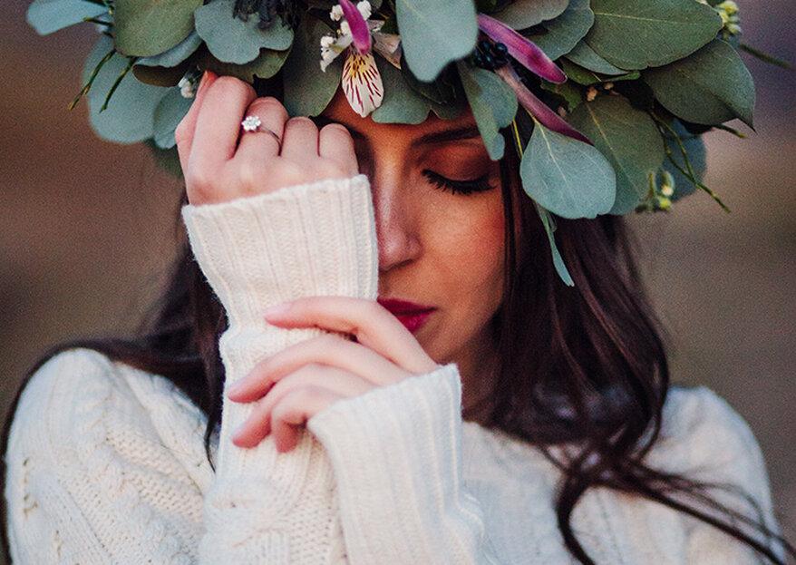 ¿La joya para tu look de novia de invierno? Los tres estilos que te dejarán helada