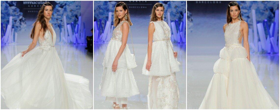 Vestidos de noiva Inmaculada Garcia 2018: elegância, pureza e inovação