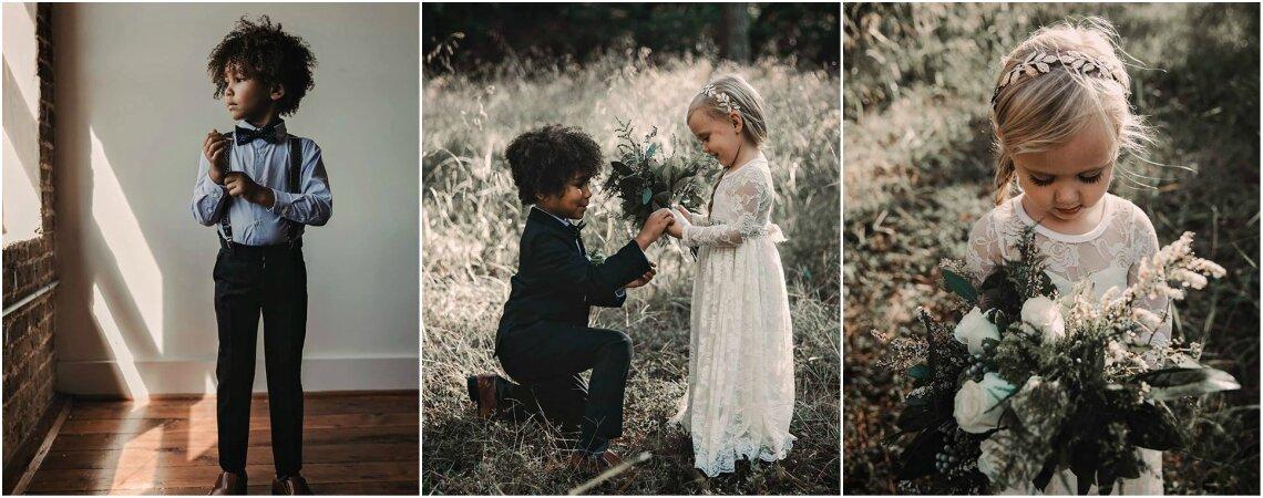 Niños posando como adultos el día de su matrimonio: una sesión de fotos que te emocionará. ¡Son puro amor!