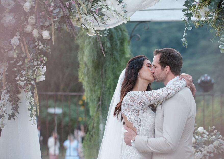 Daniela e Chris: charme mineiro e linda decoração da Leteche Decorações para celebrar um destination wedding inesquecível
