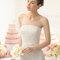 Маленький бант на талии свадебного платья