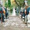 Cerimonia di nozze decorata con laterne per candele