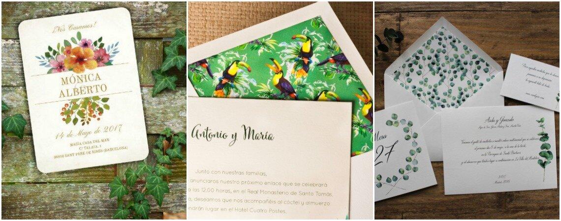 Los partes de boda más hermosos para este otoño. ¡Inspírate con estos diseños!