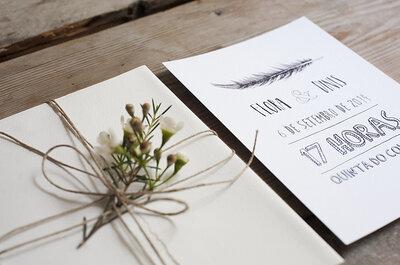 4 ideias divertidas para o seu convite de casamento