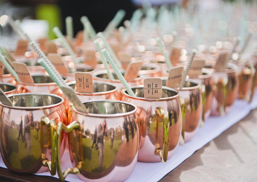 Canecas de cobre: um detalhe diferenciador para decorar o seu casamento!