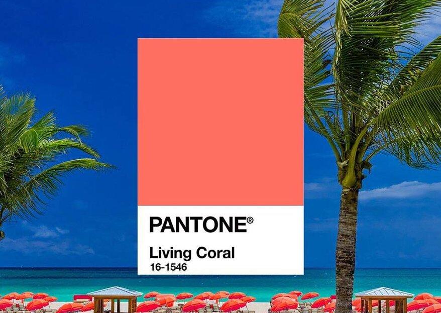 Living Coral ¡El Pantone 2019 es el color perfecto para tu boda!