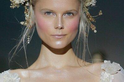 Penteados e maquiagens das passarelas para noivas