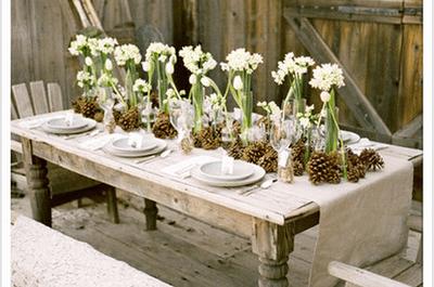 Tipos de mesas para el montaje de tu boda