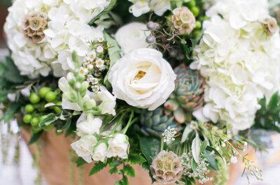 Preciosa decoración de boda en color blanco: Pureza y elegancia en un día mágico