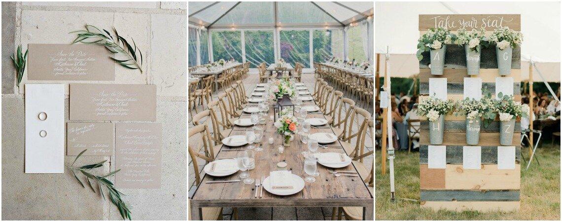 Las mejores 60 ideas en decoración rústica para matrimonios. ¡Apuesta por lo natural!