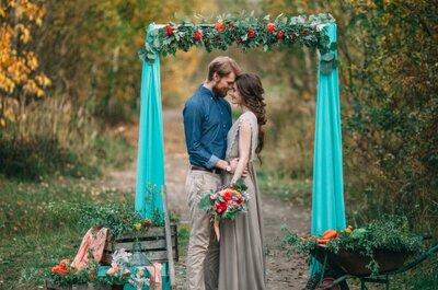 Осенняя романтика: овощная свадьба Миши и Алёны