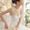 Sweetheart neckline with tulle and jewelled applications
