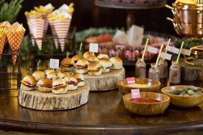 Comidinhas de boteco requintadas no seu casamento: unanimidade entre os convidados!