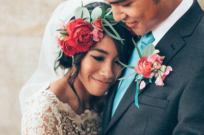 14 idées pour être assortie à la tenue de mariage de son homme