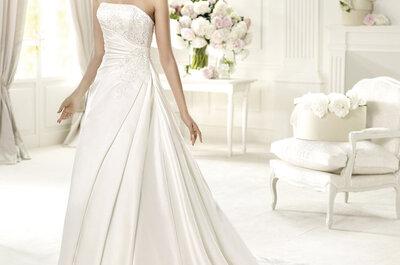 Vestidos de novia con escote strapless Pronovias colección Glamour 2013