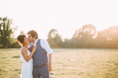 Marie et Louis : un joli mariage champêtre et DIY dans le jardin familial sarthois