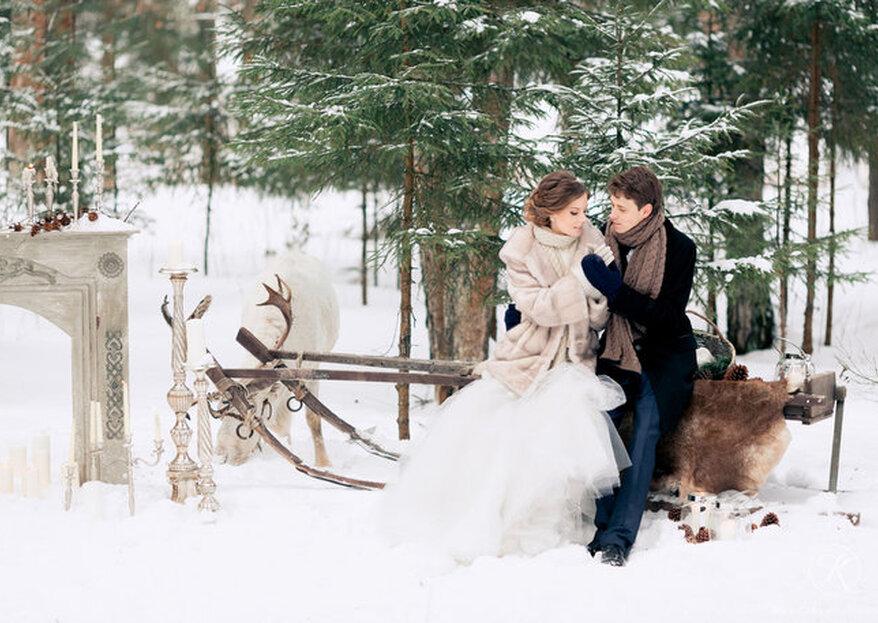 Boda de invierno: claves para casarse en esta estación