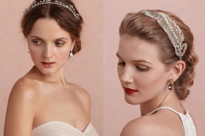 Diademas y tocados para novias con estilo vintage