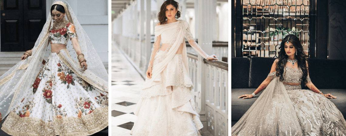 6 Unique Ivory Lehengas We Spotted On Real Brides
