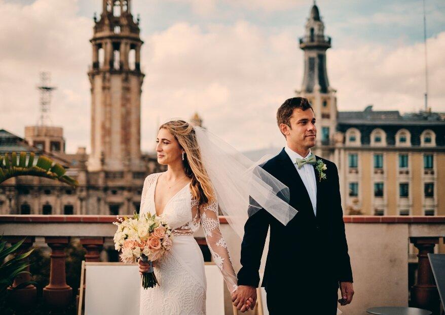 Dos estadounidenses enamorados de Barcelona: la boda de Colleen y Hunter