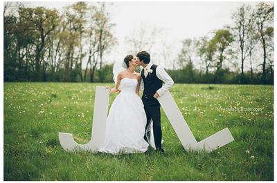 Letras en la decoración de tu boda. ¡Inténtalo!