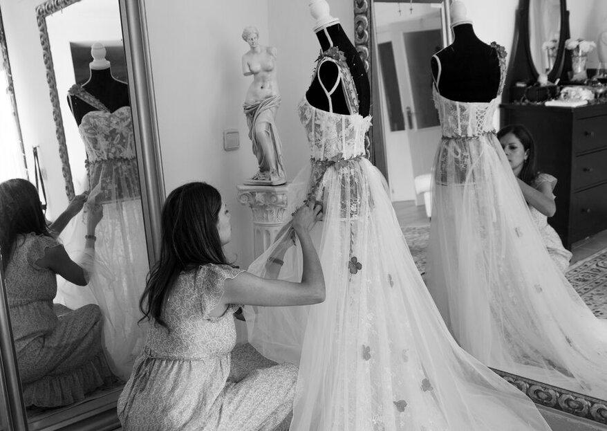 Navdra hará que tu vestido de novia transmita tus sentimientos y tu personalidad