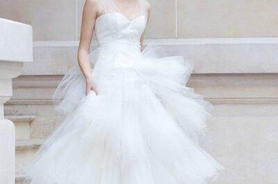 La moda de los vestidos de novia románticos