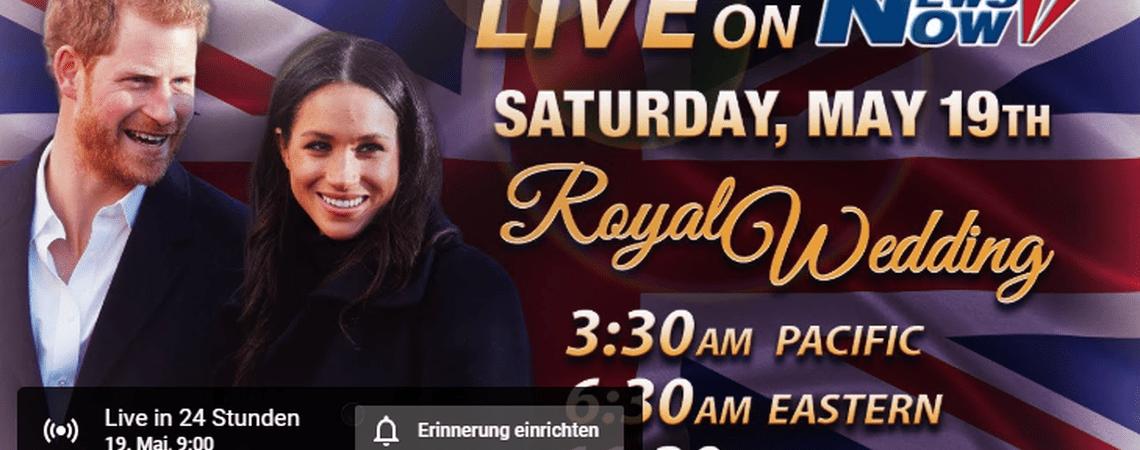 Erleben Sie die royale Traumhochzeit von Prinz Harry und Meghan Markle im Livestream von Zankyou!