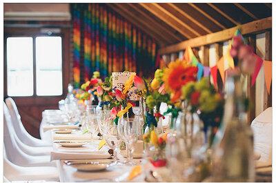 Eine farbenfrohe Hochzeit!