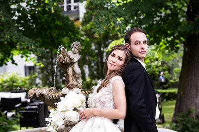 Die standesamtliche Hochzeit von Snejana & David im Berliner Schlosshotel Grunewald - Teil 1