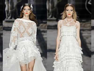 Quando l'Haute Couture sfila in passerella: da Barcellona, ecco la collezione YolanCris 2016