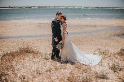 Una boda con olor a mar: el gran día de Genoveva y Andrés