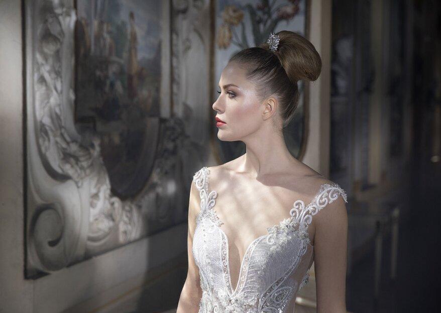 Una selezione di abiti da sposa di diversi stili e dalla qualità ottima, solo all'Atelier Michela Elite