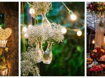Decoración aérea para bodas. Luces, flores y mucho más. ¡Impacta a tus invitados!