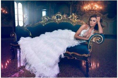 """Collezioni Sposa 2014: Atelier Vanitas, """"The Palace of the Secrets"""". Lezioni di seduzione nuziale con Belen Rodriguez"""