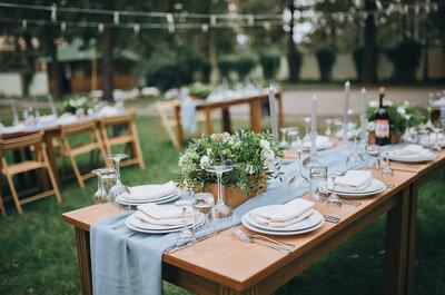 Wesele w stylu rustykalnym- 5 pomysłów na dekorację stołów
