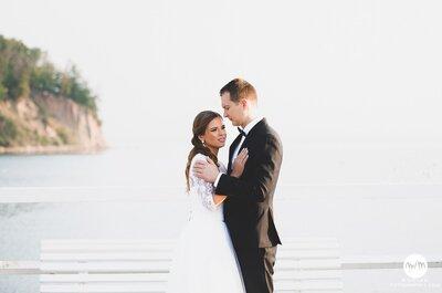 Nadmorka sesja ślubna Kasi i Marcina w Gdynia Orłowo! Zapraszamy na wschód słońca!