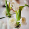 Decoración de boda con floreros para el centro de mesa