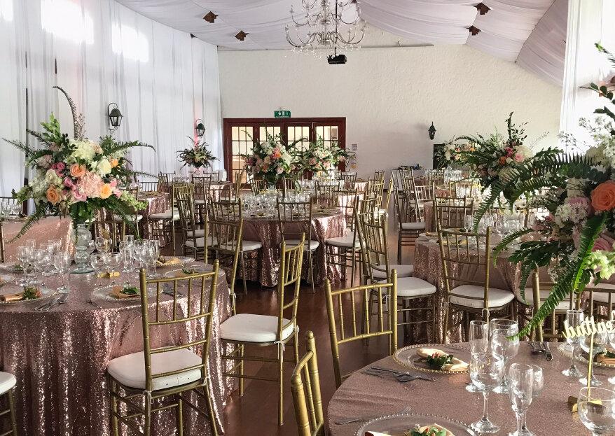 Flores Alhelí nos muestra los espacios protagónicos de las flores en tu boda