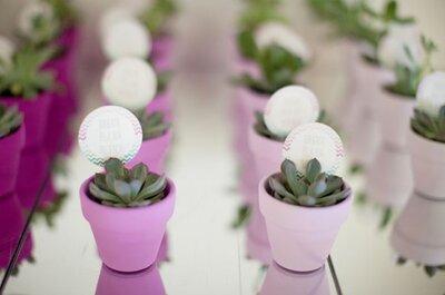 Lembranças de casamento DYI: ideias fantásticas e fáceis!
