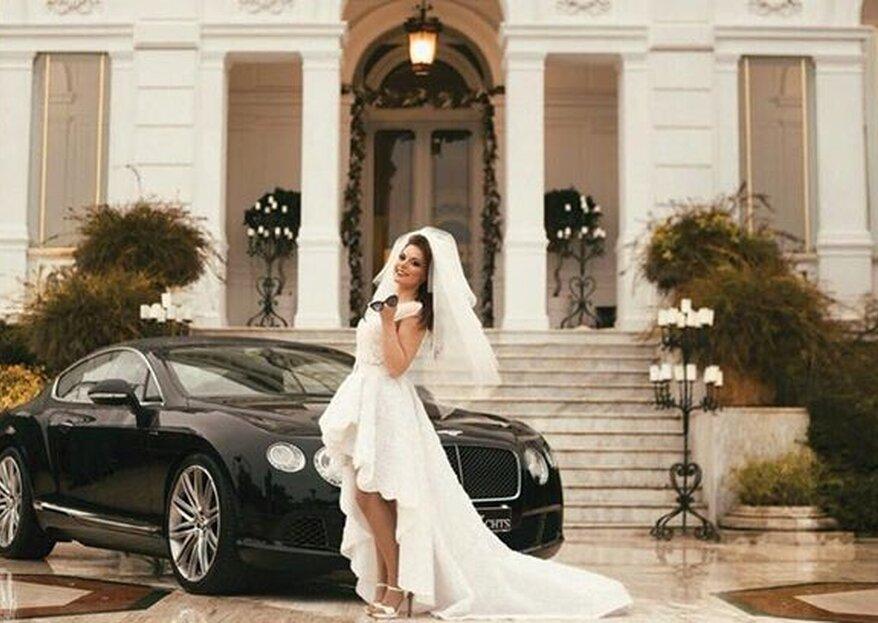 Luxury Cars and Yachts: l'arrivo degli sposi al ricevimento di nozze, un momento da ricordare