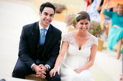 Sencillez y discreción en esta romántica celebración: la boda de Rocío y Álvaro