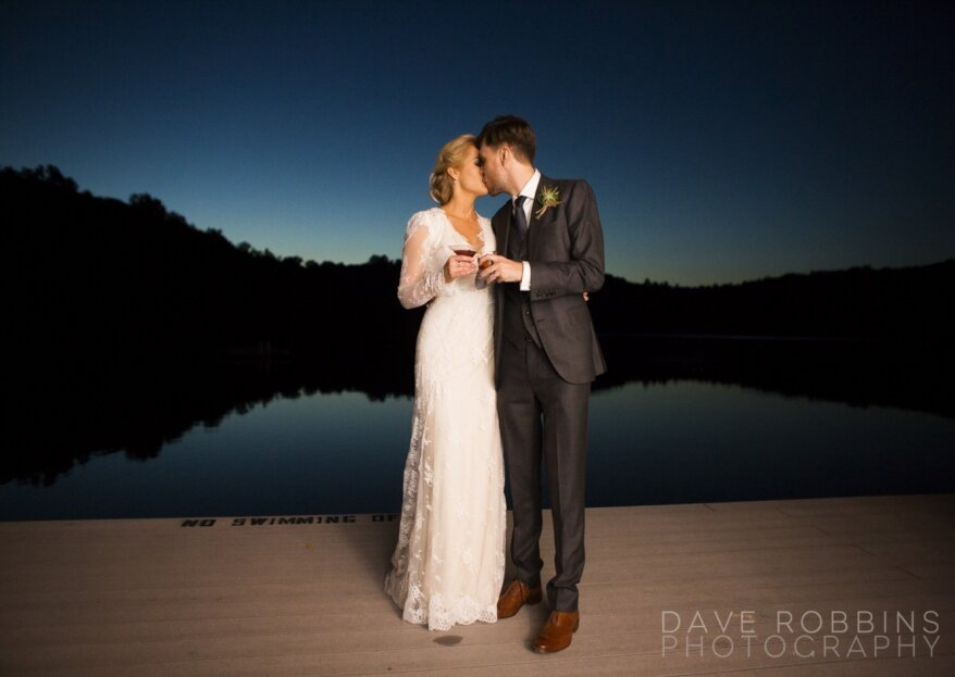 Bella foto di sera... felice matrimonio si spera!